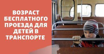 Бесплатный проезд для детей в общественном транспорте